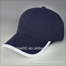 Bonnet de baseball en coton bleu
