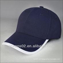 Boné de beisebol de algodão azul liso