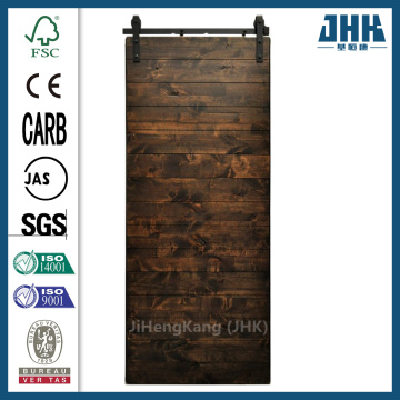 JHK Pine Wood Barn Door Sliding System