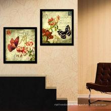 Pintura decorativa de la mariposa del vintage