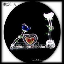 K9 flor de cristal blanca y azul