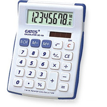 Small Size Handheld General Calculator White Black Color 8 Digit Electronic Calculator With Anti-slip Design