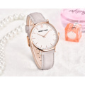 gold plated  stainless steel case back quartz wrist watch