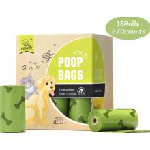 18 Заправок рулонов Компостируемые мешки для домашних животных