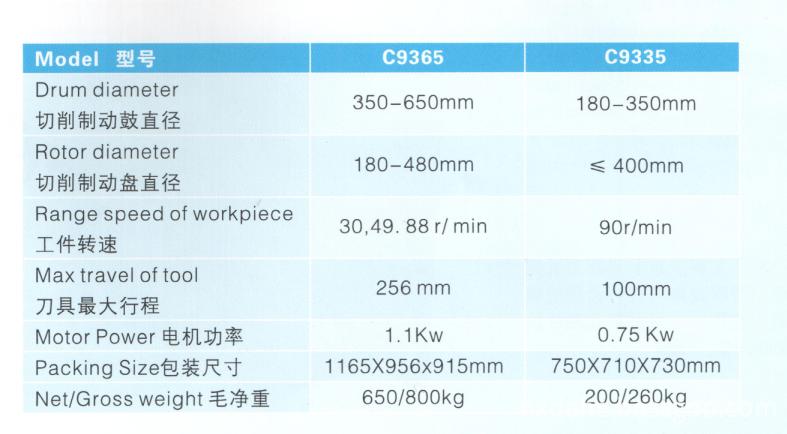 c9365 spec