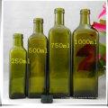 250ml 500ml 1000ml Garrafas de Vidro Quadradas de Azeite com Capa
