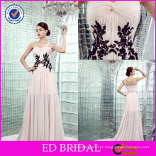 ED-YH2446 Um ombro Sexy Two Color Black Lace Evening Evening Gowns