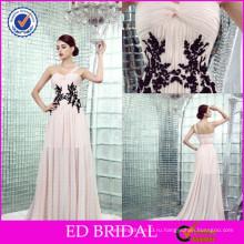 ЭД-YH2446 одно плечо сексуальный два цвета черный кружева вечерние вечерние платья