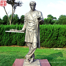 2016 Nueva figura de bronce estatua bronce retrato escultura para la decoración del jardín