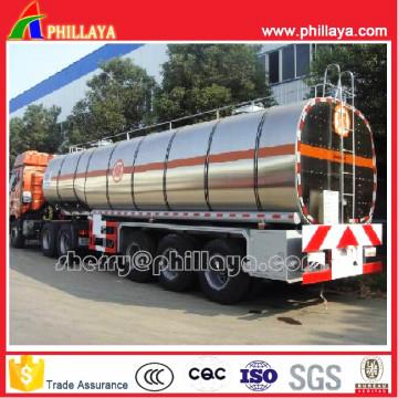 En aluminium camion citerne Semi remorque pour le transport de carburant/huile