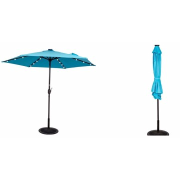 LED light solar power garden outdoor umbrella parasol