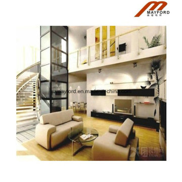 Small 3 Person Safety Glass Cabin Building Indoor Elevator Lift Home