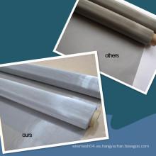 Malla de alambre de acero inoxidable de armadura plana (fabricación)