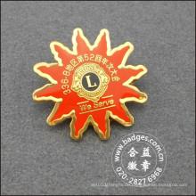 Gold überzogener organisatorischer Anstecknadel, kundenspezifisches Abzeichen (GZHY-LP-026)