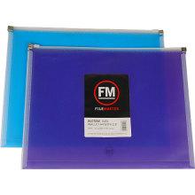 Bolsa de archivo de cremallera PP color doble