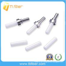 LC / PC cerâmica fibra óptica virola, manga para conector de fibra