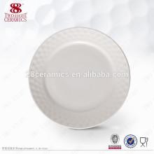 Bone China Geschirr einfache weiße Platte maßgeschneiderte Gerichte für das Restaurant