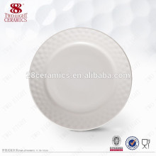 Vajilla de porcelana de hueso Plato blanco liso platos personalizados para restaurante