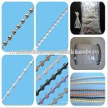 Persianas enrollables cadena de bolas de plástico, 4,5 * 6 mm gruesa cadena de bola de perlas, cadena de sombra de rodillos, componentes de persiana enrollable