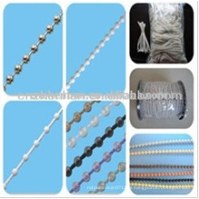 roller blinds plastic ball chain,4.5*6mm thick bead ball chain, roller shade chain,roller blind components