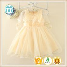 albaricoque niños ropa mayorista de alta calidad fábrica niños ropa de comercio aseguramiento partido fiesta XMAS Vestido