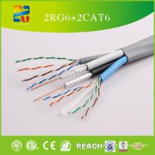 China Venda de alta qualidade baixo preço 2RG6 + 2CAT6 cabo