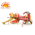 Red Play Tower Equipment Playground Outdoor For Sale