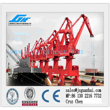 10t30m hidráulico Marine Wharf Portal Crane
