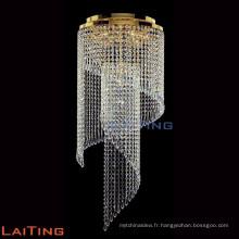 Andouiller de cristal moderne de goutte de pluie sur le plafond de lustre 92013