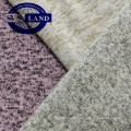 AW design hoodies clothing melange color fleece bonded with polyester sherpa fabric