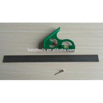 Règle d'angle combinée en acier, règle de métal, angle de combinaison en acier 61022