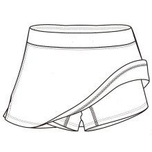 Kurzer Tennisrock für Damen