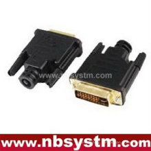 DVI(24+5) plug connector with plastic shell