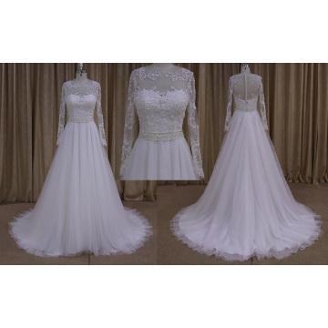 2016 New Model A-Line Wedding Dress Long Sleeve Wedding Dress