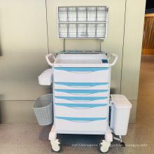 Chariot d'anesthésie en acier ABS avec système d'entrée sans clé