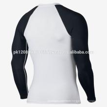 mens long sleeve UV protection compression training wear rash guard