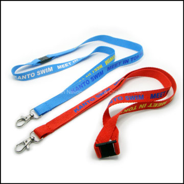 Ventes directes en usine Impression Custom Logo Polyester Lanyards for Card Holder