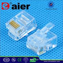 RJ11 Telefonstecker Modular Jack 6P6C Crystal Plug