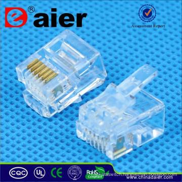 RJ11 Telephone Plug Modular Jack 6P6C Crystal Plug