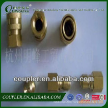 3/8NPT America type stainless steel shoot-through hydraulic quick coupler