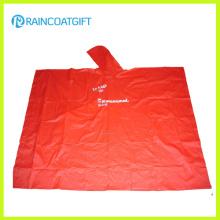 Poncho de encargo de la lluvia del PVC de la marca del logotipo para la promoción