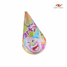 Cheap Price Feather Deco Paper Party Hat By OPP Bag