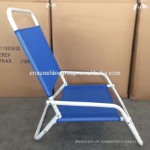 super quality cheap price low seat folding blue beach chair