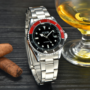 2016 fashion stainless steel 30m water resistant back watch