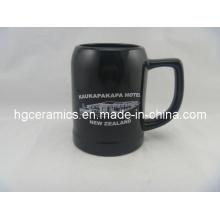 Ceramic Beer Stein, 500ml Black Ceramic Beer Stein