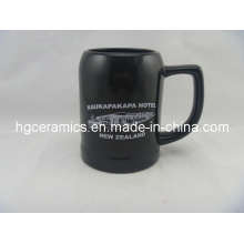 Ceramic Beer Stein, 500ml Black Ceramic Beer Stein