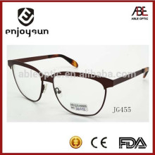 Mens metal atraente óculos ópticos molduras moda espetáculos