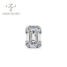ForeverFlame G H 2ct 7mm*9mm Emerald Cut diamond CVD CZ Moissanite