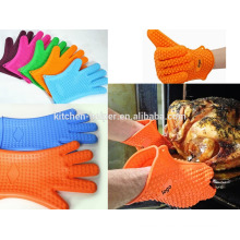 Eco-friendly Custom Cooking Oven Non-stick Baking Silicone BBQ Glove/Silicone Grill Oven BBQ Glove/Oven Mitt
