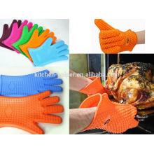 Eco-friendly изготовленная на заказ печь духовки антипригарное выпечки силиконовая перчатка BBQ / печь силикона решетки BBQ перчатка / Mitt духовки